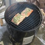 Salmon on the smoker