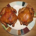 Smoked Jack Daniel's Hens