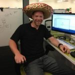 Wearing the sombrero to celebrate my 34th birthday!