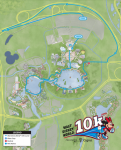 2018 Disney World 10k Course Map