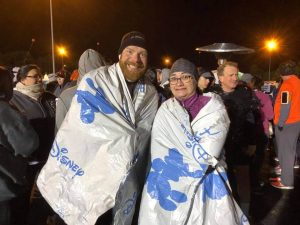 Josh Zeigler and Beth Dutridge-Corp at the Disney World 10k